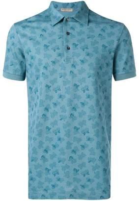 Bottega Veneta butterfly print polo shirt