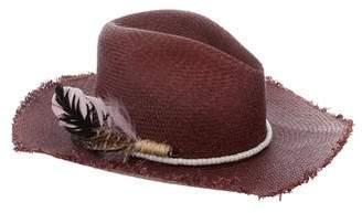 Nick Fouquet Embellished Straw Hat