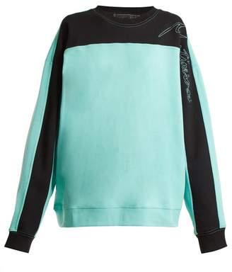 Martine Rose Logo-embroidered contrast-panel cotton sweatshirt