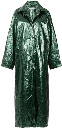 Walk Of Shame glossy long raincoat