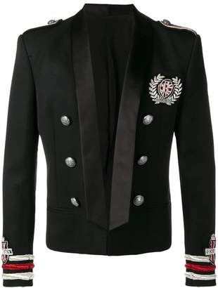 Balmain semi-embroidered wool jacket
