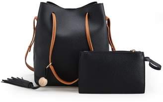 4923f99a5b Generic Women Handbag Shoulder Bags Bucket Tote Purse PU Leather Messenger  Bag Elegant