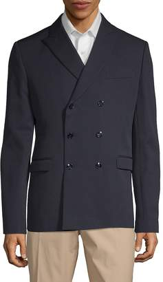 Valentino Men's Peak Lapel Double-Breasted Wool Jacket