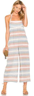 Mara Hoffman Scoop Pocket Jumpsuit in Blue $250 thestylecure.com
