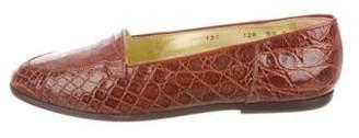 Walter Steiger Crocodile Semi Pointed-Toe Loafers