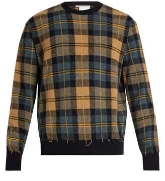 Stella McCartney Crew-neck checked wool sweater
