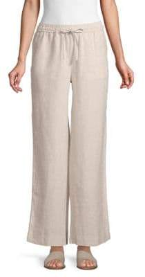 Saks Fifth Avenue Wide-Leg Linen Pants