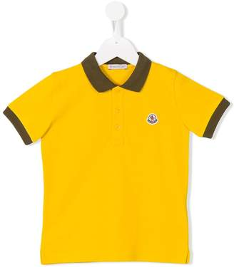 Moncler colour block polo shirt