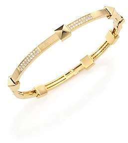 Marli Women's Pyramide Diamond & 18K Yellow Gold Boheme Oval Bangle Bracelet
