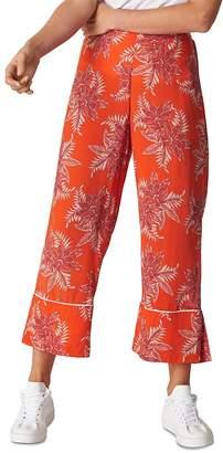 Whistles Palmyra-Print Crop Pants