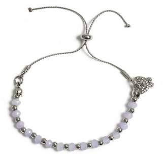 Miss Selfridge Purple beaded bracelet