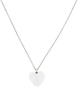 Tiffany & Co. Rock Crystal Heart Necklace $250 thestylecure.com