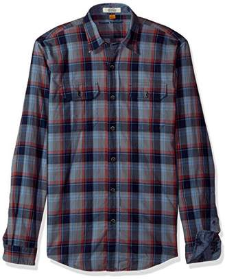 Tailor Vintage Men's Great Smokey Indigo Plaid Shirt