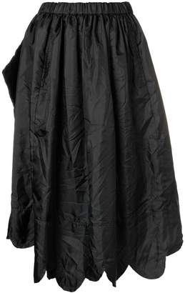 Comme des Garcons scalloped hem asymmetric skirt