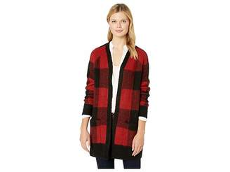 Lucky Brand Buffalo Plaid Cardigan Sweater