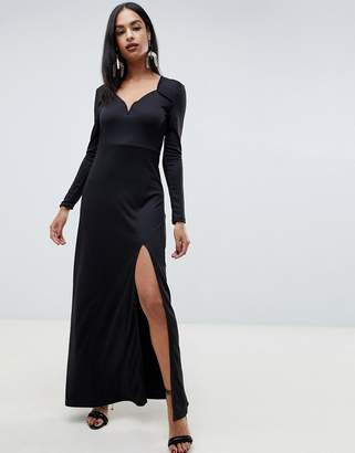 Ivyrevel Sweetheart Maxi Dress With Slit Front