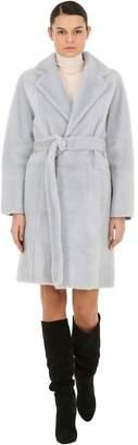 Yves Salomon Fur Coat W/ Belt
