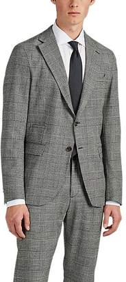 Eleventy Men's Checked Wool Two-Button Sportcoat - Black Pat.