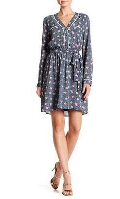 Daniel Rainn DR2 by Floral Patterned Tipped Dress