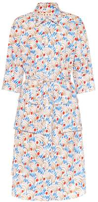 Marni Printed cotton shirt dress