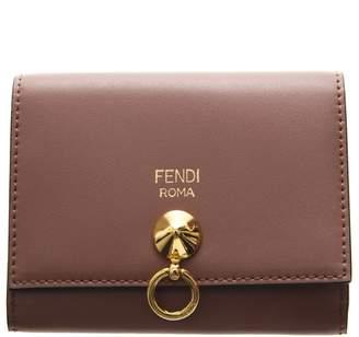 Fendi Antique Rose Leather Card Holder