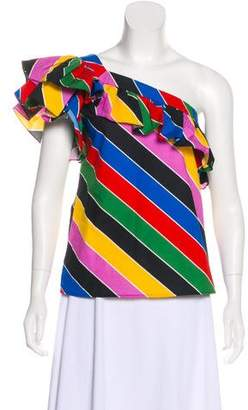 Philosophy di Lorenzo Serafini One-Shoulder Colorful Top w/ Tags