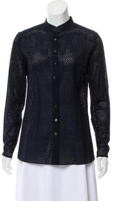 Sophie Theallet Long Sleeve Button-Up Top