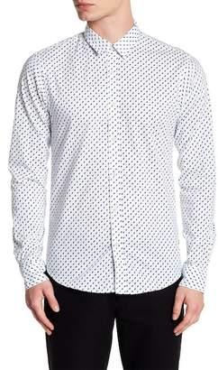 Scotch & Soda Oxford Long Sleeve Print Slim Fit Woven Shirt