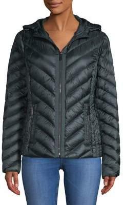 MICHAEL Michael Kors Chevron-Quilt Down Jacket