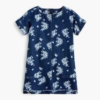J.Crew Girls' flower-print denim dress