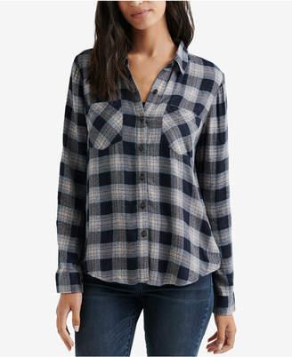 Lucky Brand Plaid Button-Front Shirt