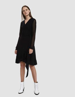 Ganni Dot Mesh Wrap Dress
