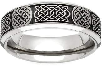 GETi Titanium Celtic Engraved 6mm Ring