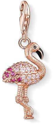 Thomas Sabo Flamingo Sterling Silver and Crystal Charm Pendant