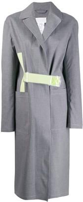MACKINTOSH MAISON MARGIELA Grey Bonded Cotton Single Breasted Trench Coat