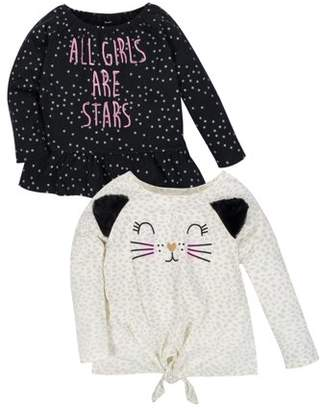 Gerber Separates Long Sleeve Knit T-Shirts 2-Pack (Baby Girls & Toddler Girls)