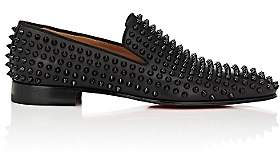 Christian Louboutin Men's Spiked Dandelion Venetian Loafers - Black