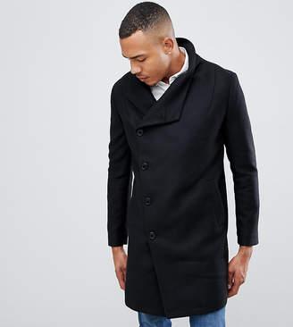 Religion funnel neck coat in black