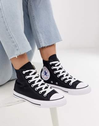 Converse chuck taylor all star hi oversized logo black sneakers