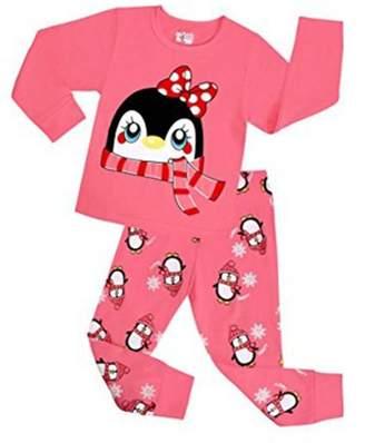 Original Penguin Babylike little girls 2 Piece Pajama 100% Cotton(Size 2-7 Years)