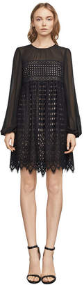 BCBGMAXAZRIA Luann Scallop Lace Dress