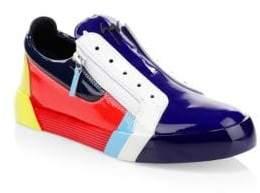 Giuseppe Zanotti Rainbow Low-Top Leather Zip Sneakers