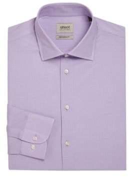 Giorgio Armani Modern-Fit Solid Dress Shirt