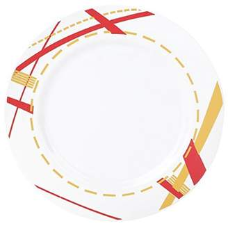 "Kaya Collection - Disposable Potpourri Red, White and Gold 7.5"" Salad/Dessert Plates (20 Plates)"