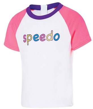 Speedo Toddler Girl's Mix Fix Short Sleeve Sun Top