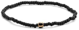 Luis Morais Bead, Enamel And Yellow Gold Bracelet - Mens - Black