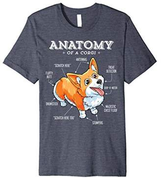 Corgi Anatomy of a T-Shirt Funny Corgis Dog Puppy Shirt Tees