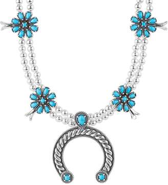 American West Sleeping Beauty Turquoise BlossomNecklace