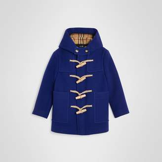 Burberry Double-faced Wool Duffle Coat , Size: 4Y, Blue