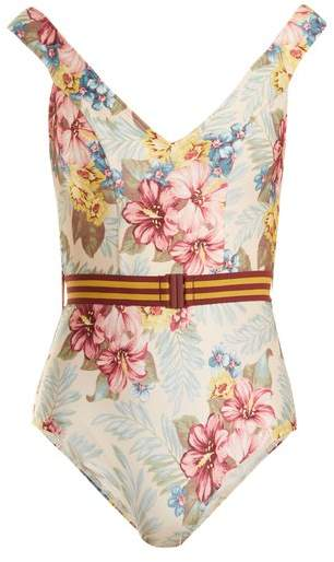 Kali hibiscus floral-print swimsuit